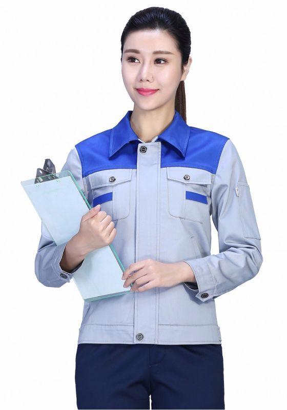银灰拼蓝色+深裤
